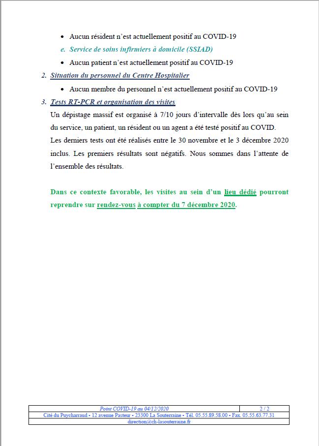 Situation covid 19 au 04 12 20 2